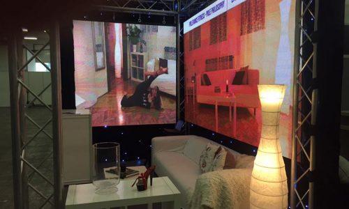 Led ekran za uređenje izložbenog prostora